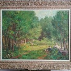 Arte: ENRIC PORTA ( 1898- 1993). ÓLEO SOBRE TELA. PAISAJE.. Lote 249473035