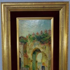 Arte: VISTA DE TÁNGER PINTADA AL ÓLEO SOBRE TABLA JOSÉ MONTENEGRO CAPELL FIRMADO Y FECHADO EN 1926. Lote 250162615