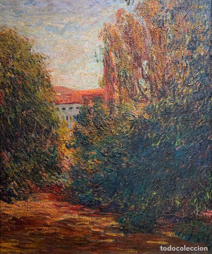JOAN COLOM AGUSTÍ (1879-1869) JARDÍN (Arte - Pintura - Pintura al Óleo Moderna sin fecha definida)