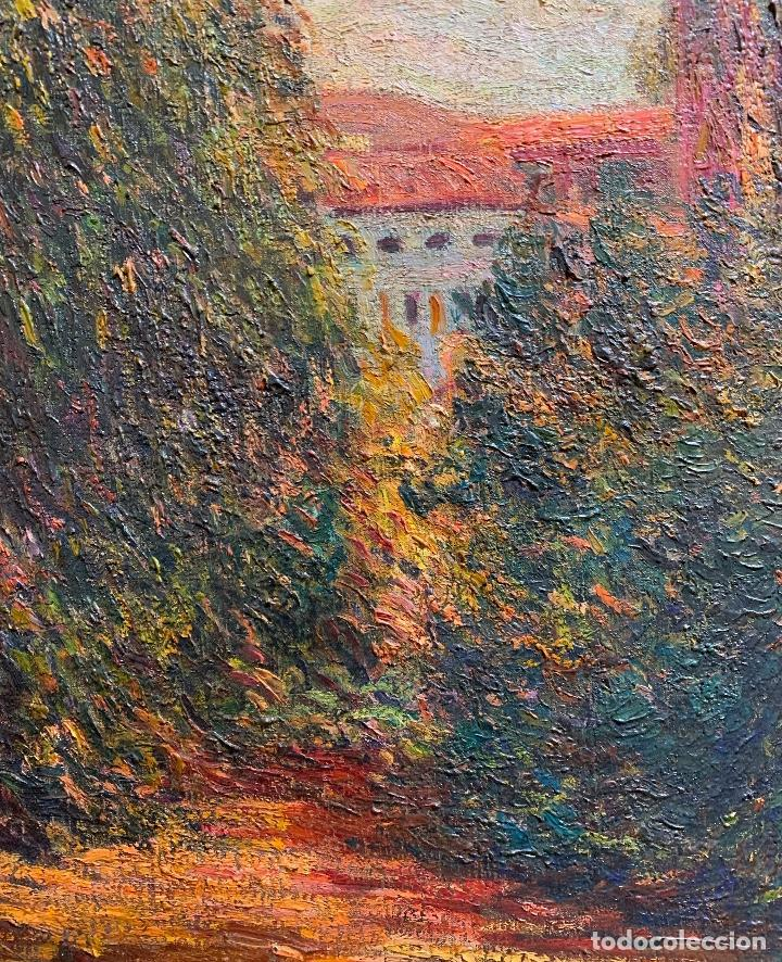 Arte: Joan Colom Agustí (1879-1869) Jardín - Foto 4 - 250225850