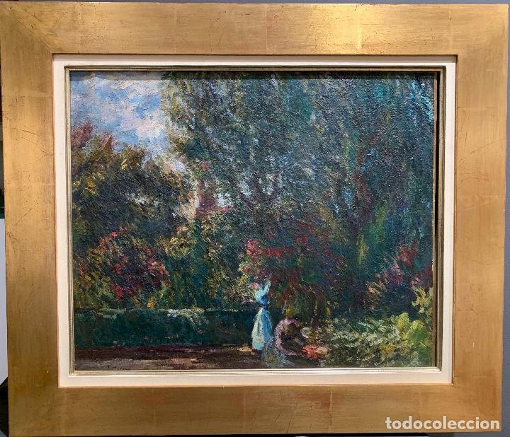 Arte: Joan Colom Agustí (1879-1869) Jardín - Foto 2 - 250226140