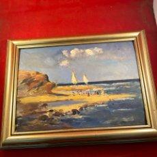 Arte: VILA Y PRADES JULIO (1873-1930) PINTOR ESPAÑOL. OLEO SOBRE TABLA. Lote 250319505