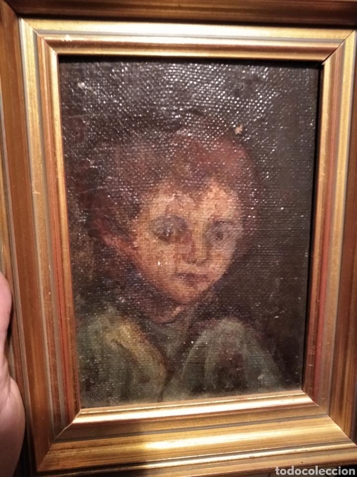 Arte: Lienzo sobre tabla, Niño - Foto 2 - 251072785