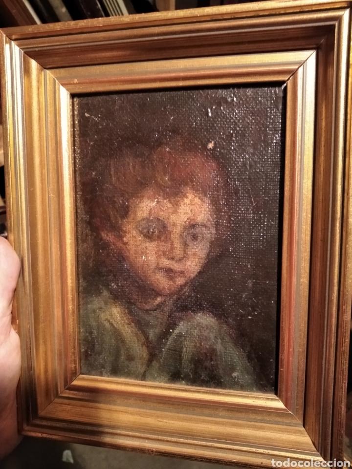 LIENZO SOBRE TABLA, NIÑO (Arte - Pintura - Pintura al Óleo Antigua siglo XVIII)
