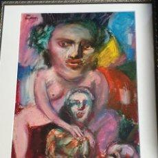 Arte: CUADRO AGUSTÍN PEREZ BELLAS ARTISTA GALLEGO. Lote 251117375
