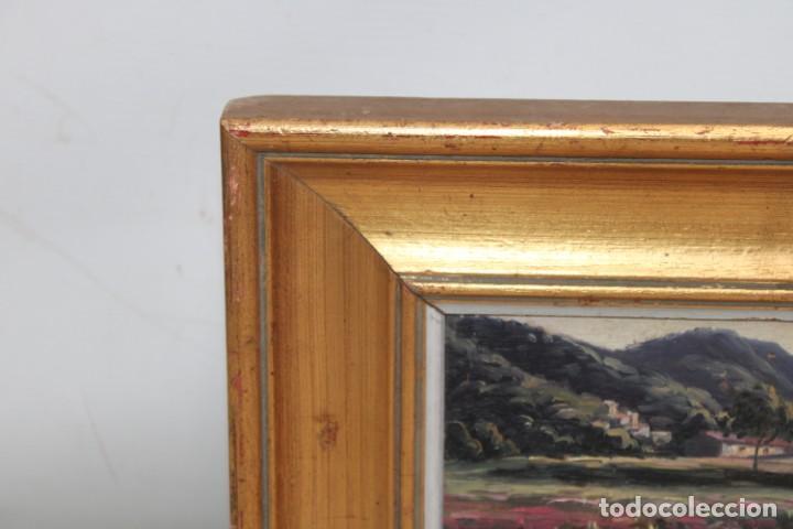 Arte: FIRMADO L. TETXAS. OLEO SOBRE TABLA FECHADO DEL AÑO 1965. PAISAJE FLORECIDO - Foto 3 - 251150360