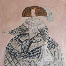 Arte: MENINA,PINTURA SOBRE TELA. Lote 251334780