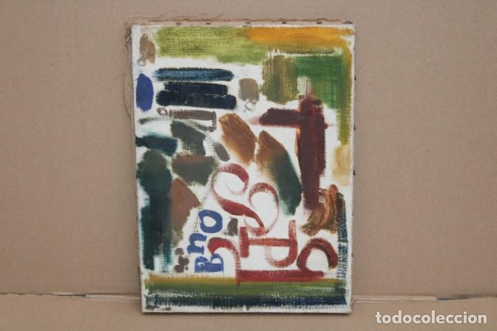 JORDI SAMSO BASTARDAS (BARCELONA, 1929 - 2008) OLEO SOBRE TELA. COMPOSICIÓN (Arte - Pintura - Pintura al Óleo Contemporánea )