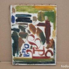 Arte: JORDI SAMSO BASTARDAS (BARCELONA, 1929 - 2008) OLEO SOBRE TELA. COMPOSICIÓN. Lote 251342825