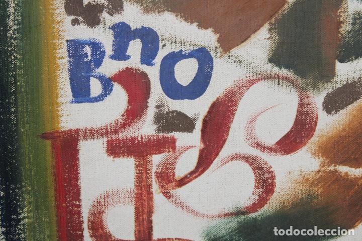 Arte: JORDI SAMSO BASTARDAS (BARCELONA, 1929 - 2008) OLEO SOBRE TELA. COMPOSICIÓN - Foto 3 - 251342825