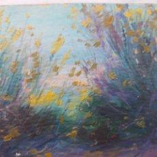 Arte: PAISAJE IMPRESIONISTA. OLEO SOBRE CARTON. SIN FIRMA. 11X17CM.. Lote 251857760