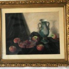 Arte: JOSEP VILA-MALERAS OLEO SOBRE CARTÓN. BODEGÓN 1950'S.. Lote 251935755
