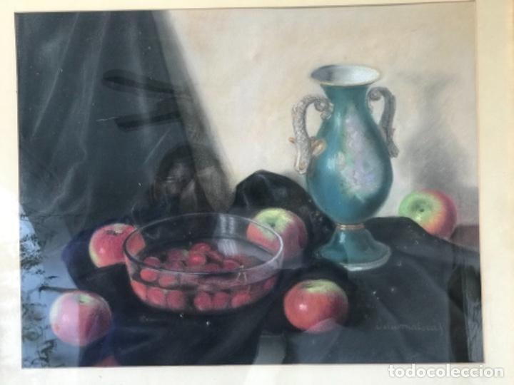 Arte: JOSEP VILA-MALERAS OLEO SOBRE CARTÓN. BODEGÓN 1950'S. - Foto 2 - 251935755