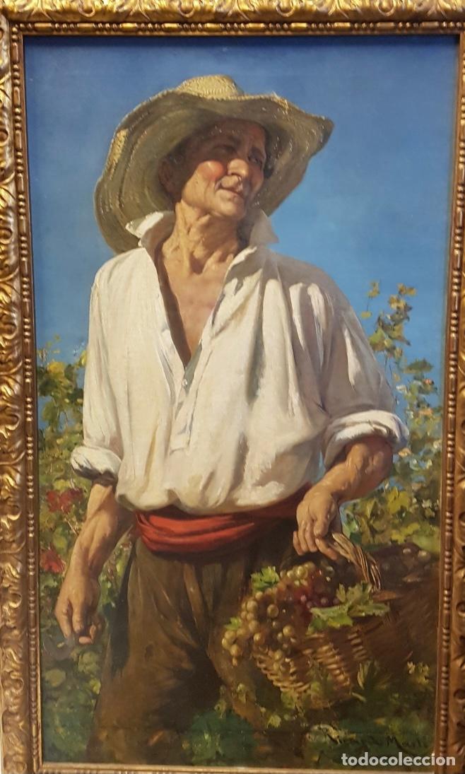 """RICARDO MARTI """"TÍTULO LA VENDIMIA"""" (Arte - Pintura - Pintura al Óleo Moderna siglo XIX)"""