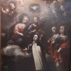 """Arte: """" SANTA TERESA RECIBIENDO EL COLLAR Y EL MANTO"""". Lote 251966670"""