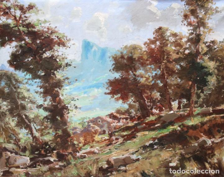 ANTONIO SELVAGGIO MANCINI (1921 - 2008) OLEO SOBRE TELA. PAISAJE (Arte - Pintura - Pintura al Óleo Contemporánea )