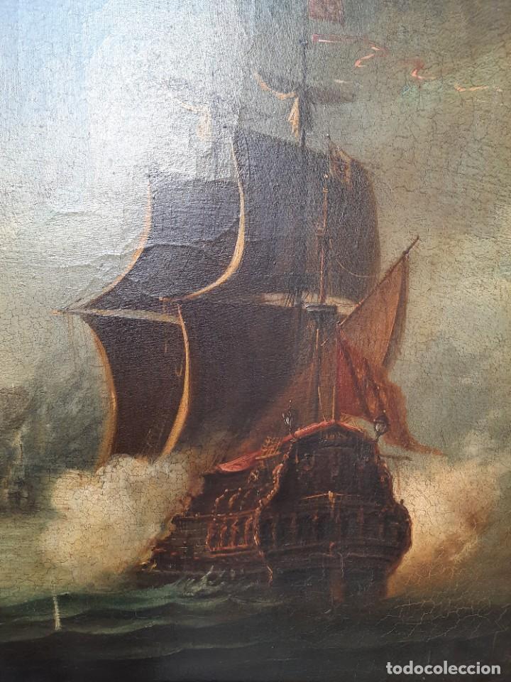 Arte: oleo sobre lienzo-BATALLA NAVAL- - Foto 6 - 200749538