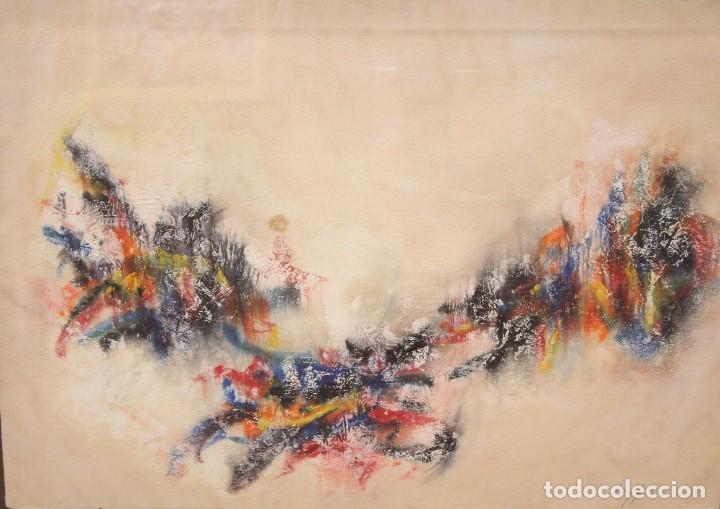 DON FINK (DULUTH, MINESSOTA, ESTADOS UNIDOS, 1923 - 2010) TECNICA MIXTA DEL AÑO 1990. ABSTRACCION (Arte - Pintura - Pintura al Óleo Contemporánea )