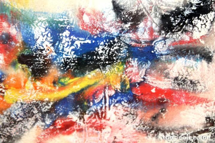 Arte: DON FINK (Duluth, Minessota, Estados Unidos, 1923 - 2010) TECNICA MIXTA DEL AÑO 1990. ABSTRACCION - Foto 10 - 252157385