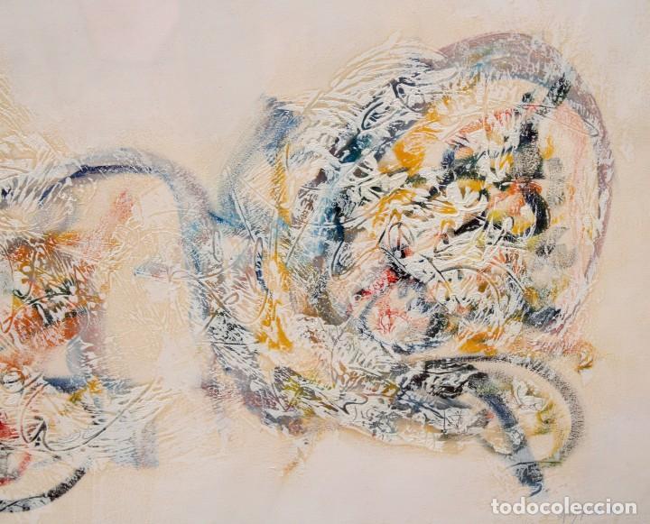 Arte: DON FINK (Duluth, Minessota, Estados Unidos, 1923 - 2010) TECNICA MIXTA DEL AÑO 1990. ABSTRACCION - Foto 3 - 252157850