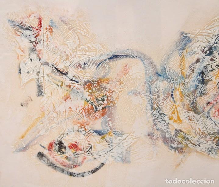 Arte: DON FINK (Duluth, Minessota, Estados Unidos, 1923 - 2010) TECNICA MIXTA DEL AÑO 1990. ABSTRACCION - Foto 4 - 252157850