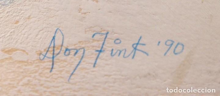 Arte: DON FINK (Duluth, Minessota, Estados Unidos, 1923 - 2010) TECNICA MIXTA DEL AÑO 1990. ABSTRACCION - Foto 10 - 252157850