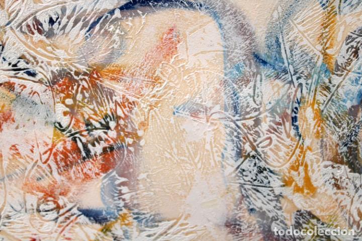 Arte: DON FINK (Duluth, Minessota, Estados Unidos, 1923 - 2010) TECNICA MIXTA DEL AÑO 1990. ABSTRACCION - Foto 7 - 252157850
