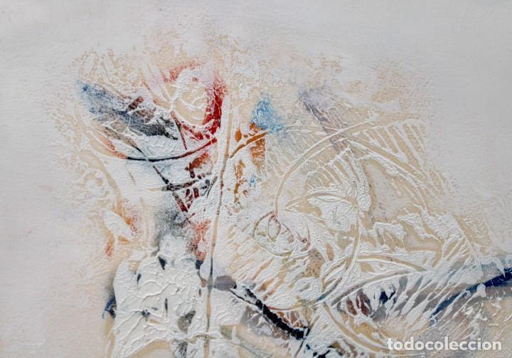 Arte: DON FINK (Duluth, Minessota, Estados Unidos, 1923 - 2010) TECNICA MIXTA DEL AÑO 1990. ABSTRACCION - Foto 9 - 252157850