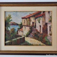 Arte: PINTURA R. MONROY 71/58CM CON MARCO, ENVIO A PENISULA 11 EUR. Lote 252223420
