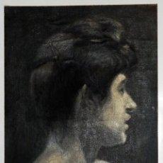 Arte: ANTIGUO RETRATO AL ÓLEO ORIGINAL SIN FIRMA. Lote 252238935