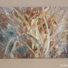 Arte: JORDI SAMSO BASTARDAS (BARCELONA, 1929 - 2008) OLEO SOBRE TABLA. CAMPO. Lote 252285380
