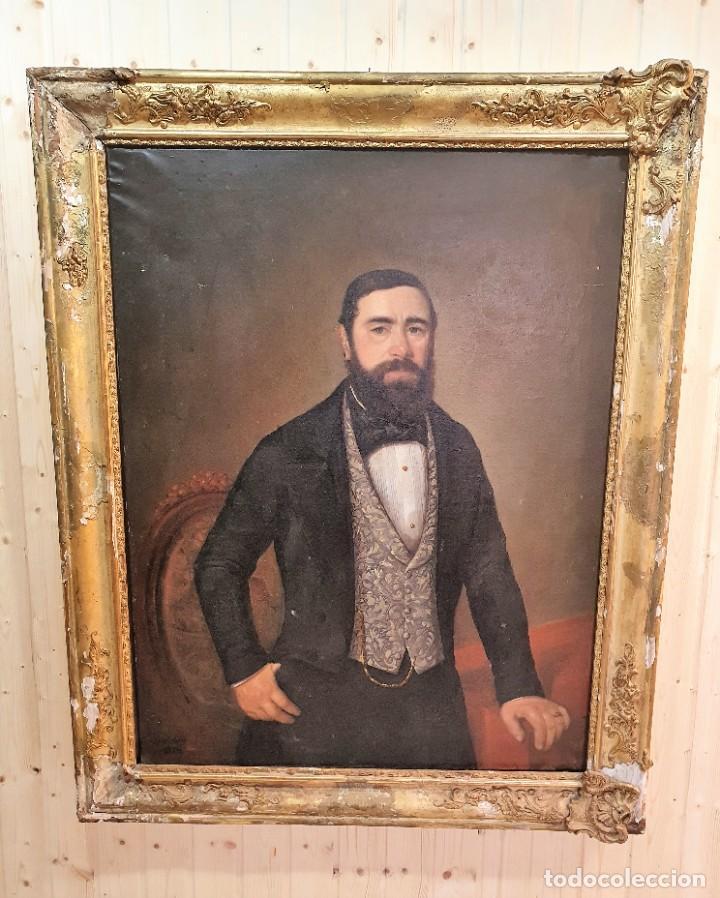 OLEO SOBRE LIENZO FIRMADO Y FECHADO 1849 (Arte - Pintura - Pintura al Óleo Antigua siglo XVIII)