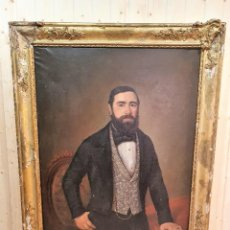 Arte: OLEO SOBRE LIENZO FIRMADO Y FECHADO 1849. Lote 252536580