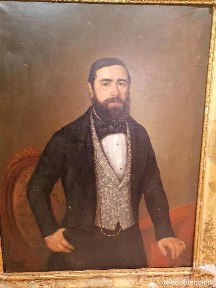 Arte: OLEO SOBRE LIENZO FIRMADO Y FECHADO 1849 - Foto 2 - 252536580