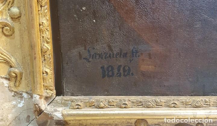 Arte: OLEO SOBRE LIENZO FIRMADO Y FECHADO 1849 - Foto 4 - 252536580