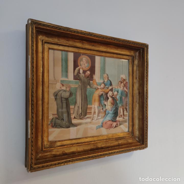 Arte: Importante y extraordinaria obra original de Manuel Arbos y Ayerbe. San Valentín cura a epiléptico. - Foto 2 - 252669530