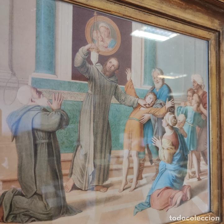 Arte: Importante y extraordinaria obra original de Manuel Arbos y Ayerbe. San Valentín cura a epiléptico. - Foto 3 - 252669530