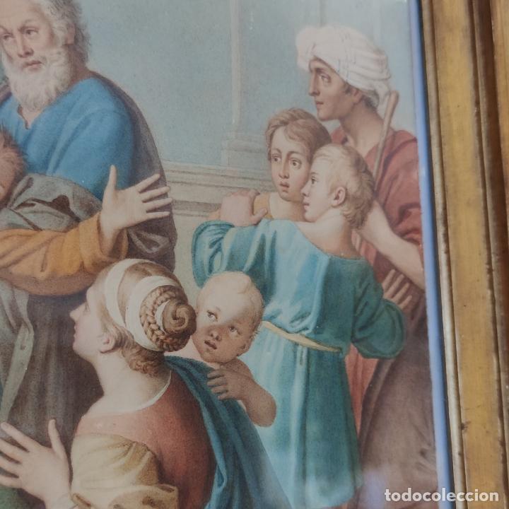 Arte: Importante y extraordinaria obra original de Manuel Arbos y Ayerbe. San Valentín cura a epiléptico. - Foto 8 - 252669530