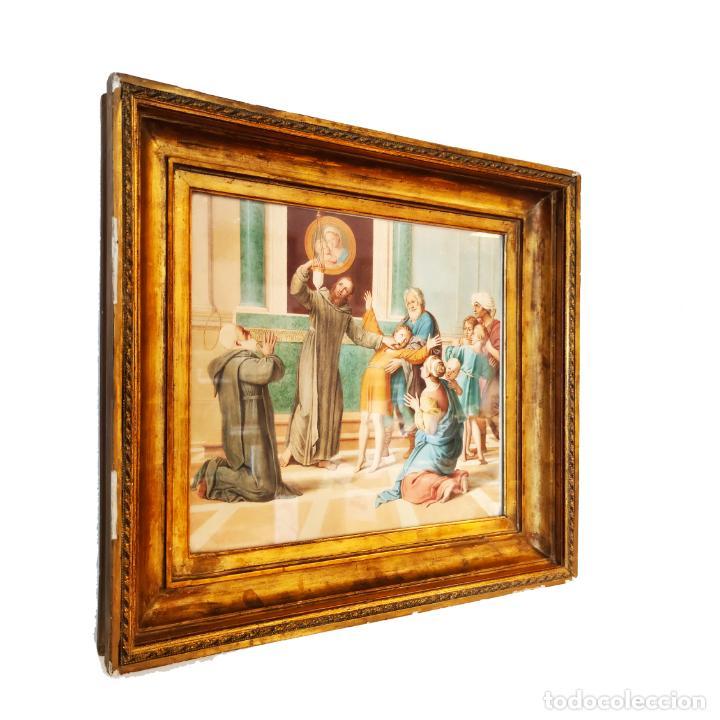 IMPORTANTE Y EXTRAORDINARIA OBRA ORIGINAL DE MANUEL ARBOS Y AYERBE. SAN VALENTÍN CURA A EPILÉPTICO. (Arte - Pintura - Pintura al Óleo Moderna siglo XIX)