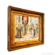 Arte: IMPORTANTE Y EXTRAORDINARIA OBRA ORIGINAL DE MANUEL ARBOS Y AYERBE. SAN VALENTÍN CURA A EPILÉPTICO.. Lote 252669530