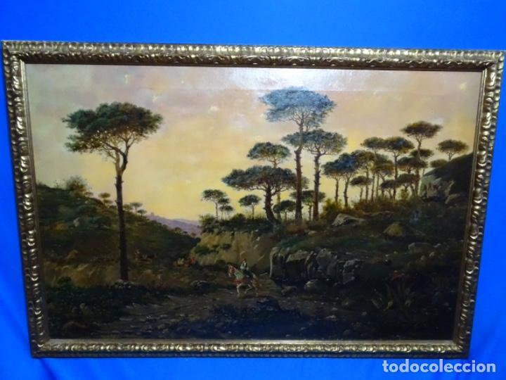 GRAN ÓLEO SOBRE TELA DEL AÑO 1886 FIRMADO MORU. ESCUELA CATALANA DE GRAN CALIDAD. (Arte - Pintura - Pintura al Óleo Moderna siglo XIX)