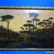 Arte: GRAN ÓLEO SOBRE TELA DEL AÑO 1886 FIRMADO MORU. ESCUELA CATALANA DE GRAN CALIDAD.. Lote 252703140