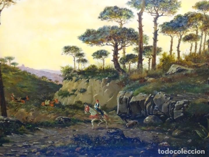 Arte: GRAN ÓLEO SOBRE TELA DEL AÑO 1886 FIRMADO MORU. ESCUELA CATALANA DE GRAN CALIDAD. - Foto 2 - 252703140