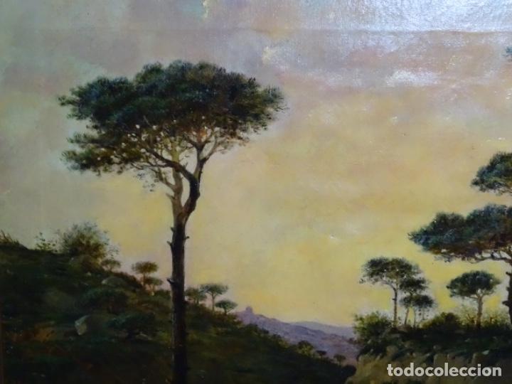Arte: GRAN ÓLEO SOBRE TELA DEL AÑO 1886 FIRMADO MORU. ESCUELA CATALANA DE GRAN CALIDAD. - Foto 3 - 252703140