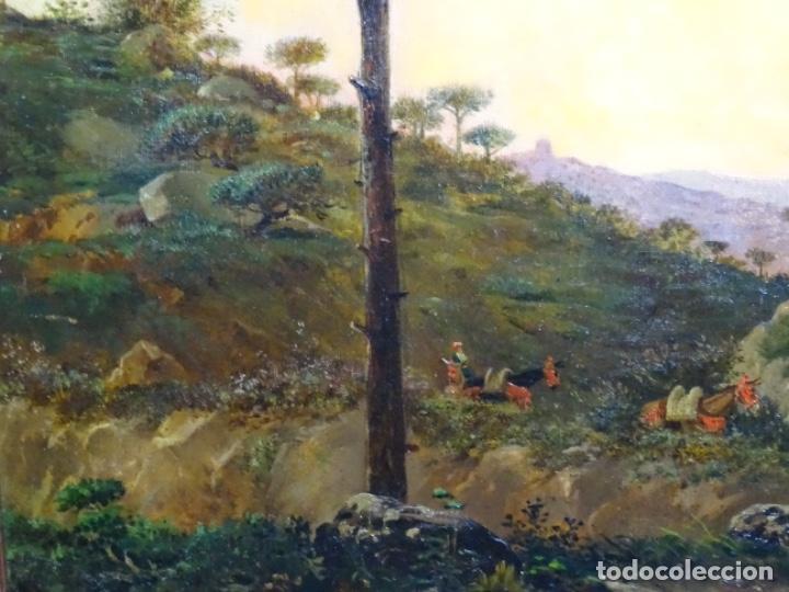 Arte: GRAN ÓLEO SOBRE TELA DEL AÑO 1886 FIRMADO MORU. ESCUELA CATALANA DE GRAN CALIDAD. - Foto 4 - 252703140