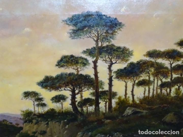 Arte: GRAN ÓLEO SOBRE TELA DEL AÑO 1886 FIRMADO MORU. ESCUELA CATALANA DE GRAN CALIDAD. - Foto 5 - 252703140
