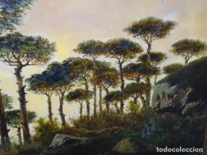Arte: GRAN ÓLEO SOBRE TELA DEL AÑO 1886 FIRMADO MORU. ESCUELA CATALANA DE GRAN CALIDAD. - Foto 6 - 252703140
