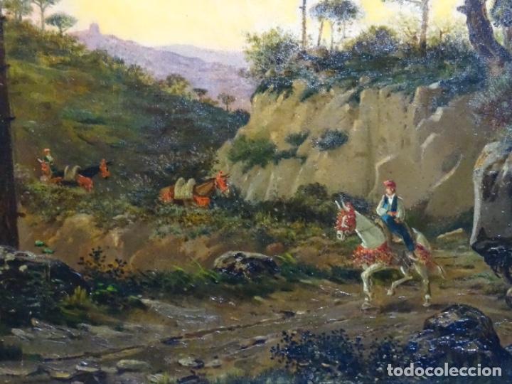 Arte: GRAN ÓLEO SOBRE TELA DEL AÑO 1886 FIRMADO MORU. ESCUELA CATALANA DE GRAN CALIDAD. - Foto 7 - 252703140