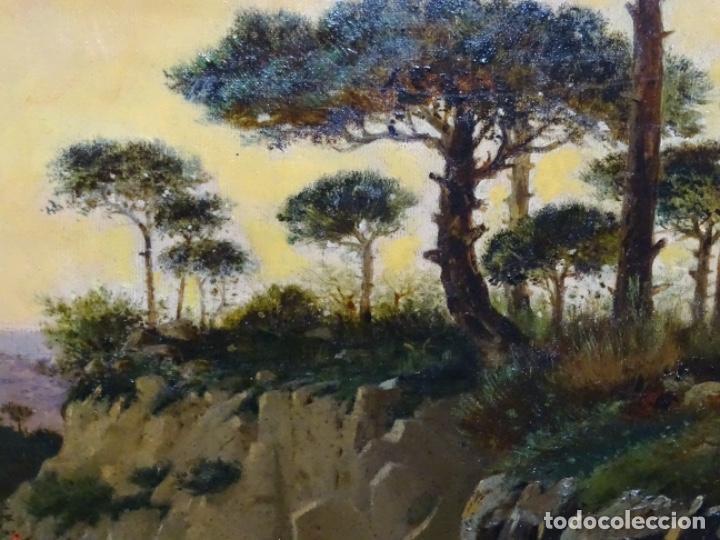 Arte: GRAN ÓLEO SOBRE TELA DEL AÑO 1886 FIRMADO MORU. ESCUELA CATALANA DE GRAN CALIDAD. - Foto 8 - 252703140