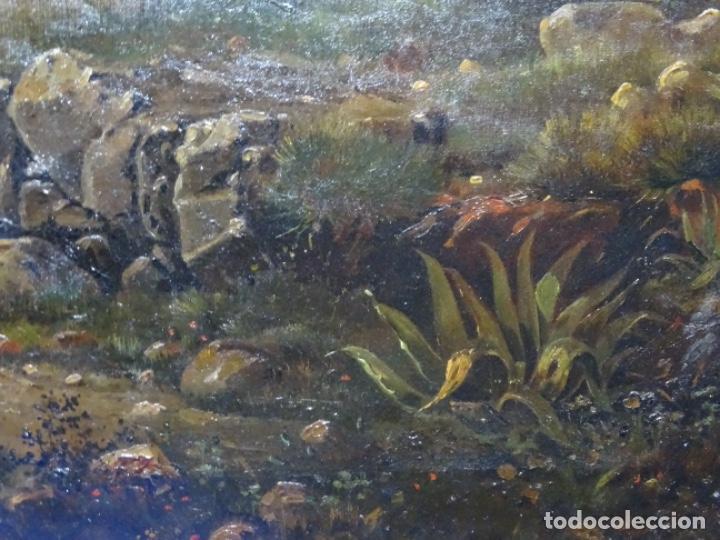 Arte: GRAN ÓLEO SOBRE TELA DEL AÑO 1886 FIRMADO MORU. ESCUELA CATALANA DE GRAN CALIDAD. - Foto 9 - 252703140